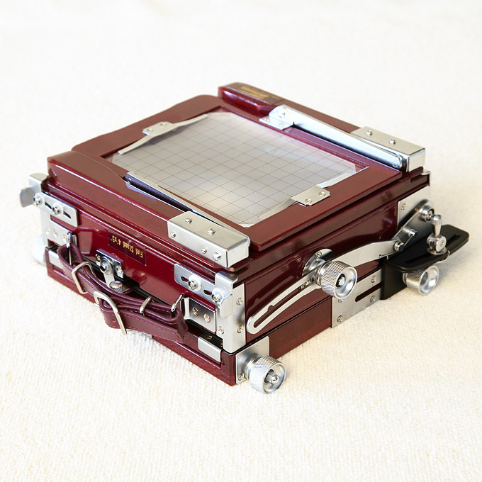 Tachihara 4x5 camera, folded