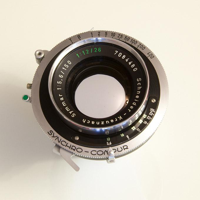 Aperture at f/5.6 (Schneider Kreuznach Symmar 150 Convertible Lens)