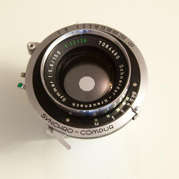 Aperture at f/16 (Schneider Kreuznach Symmar 150 Convertible Lens)