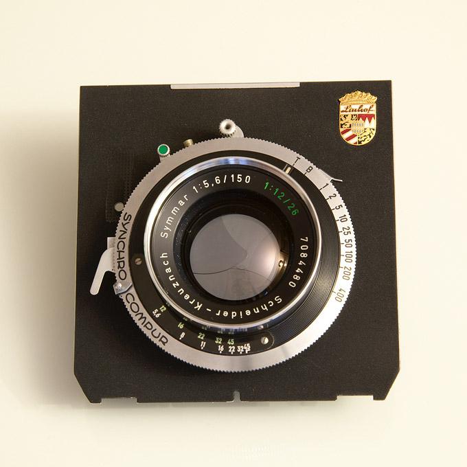 Symmar 150 convertible lens on Linhof lensboard