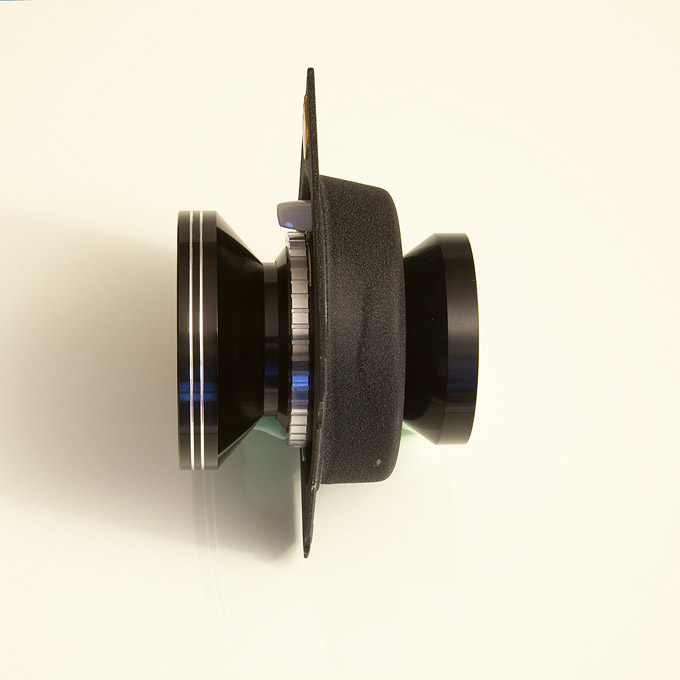 Schneider Kreuznach Super Angulon 5,6/75 lens on recessed lensboard