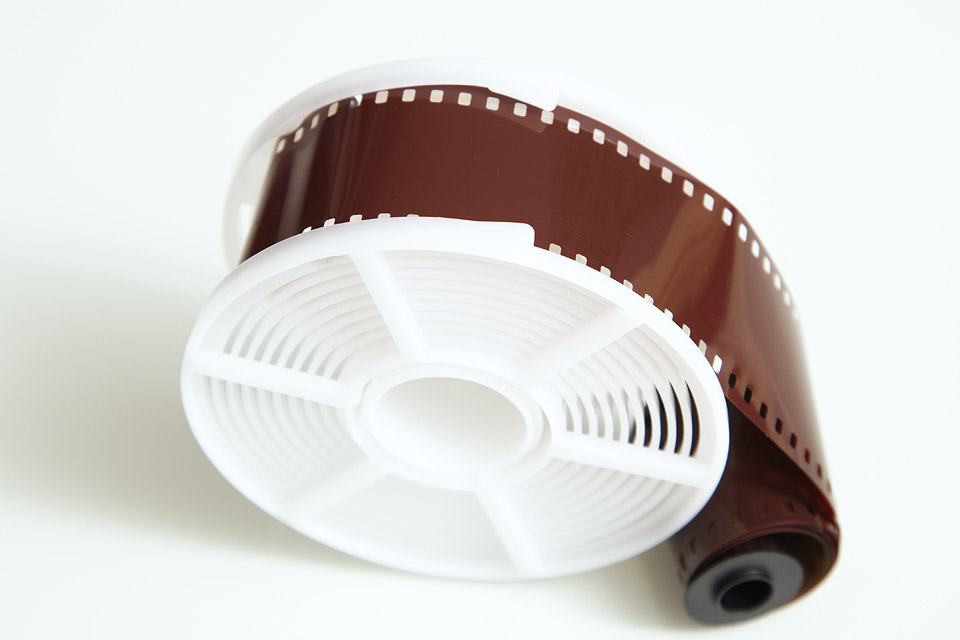 Spooling the film onto the reel