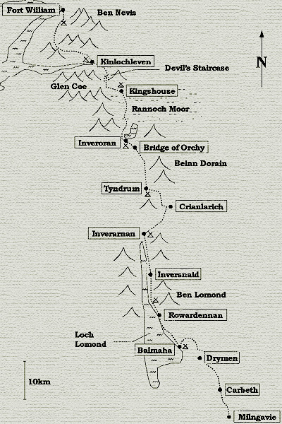 A Map of the West Highland Way