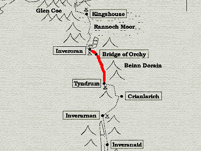 A Map of the West Highland Way - day 5